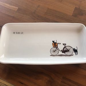 ❄️2 for $15❄️Rae Dunn black cat serving tray